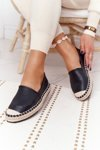 Leather Espadrilles On A Braided Sole Big Star HH274505 Black