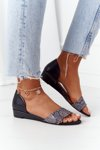 Leather Sandals Maciejka 1971-59 Black-Grey