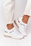 Leather Wedge Sneakers S.Barski White