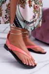 Lu Boo Pink Tied Japanese Sandals Florence