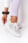 Openwork Leather Sport Shoes S.Barski White