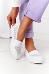 Openwork Slip-On Sneakers White Chillout