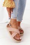 Sandals On The Cork Platform Big Star FF274A130 Beige