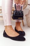 Suede Ballerinas Sergio Leone BL622 Black