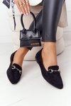 Women's Loafers Sergio Leone MK711 Suede Black