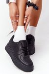 Women's Sport Shoes On A Platform Black This Is Me